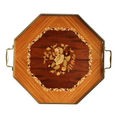 Wild Floral Inlaid Tray picture 1