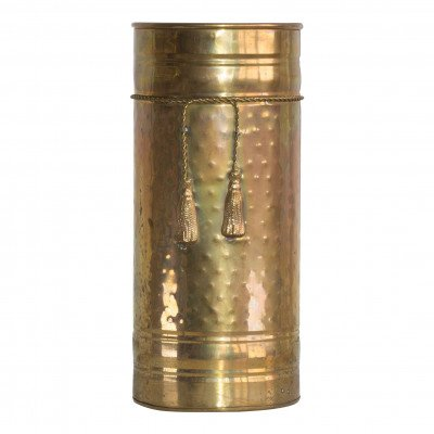 Tall Brass Cylinder Vase picture 1