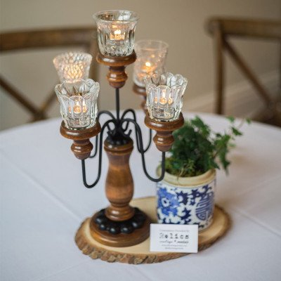 Wood 5-Taper Candelabra - Assorted picture 3