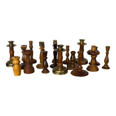 Wood Candlestick - Assorted picture 1
