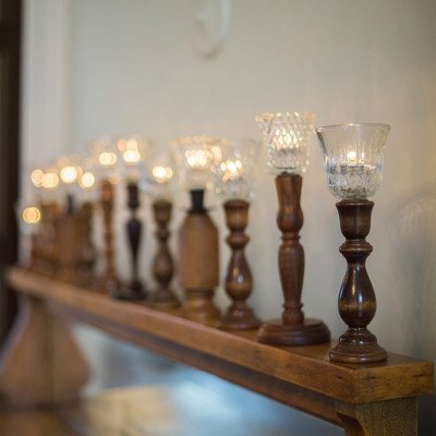 Wood Candlestick - Assorted picture 3