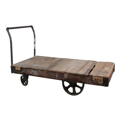 Wood Industrial Cart picture 1