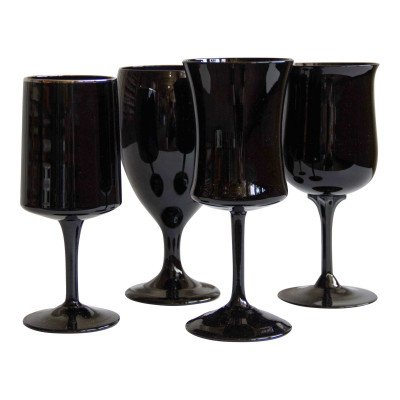Onyx and Ebony Glass Drinkware picture 1
