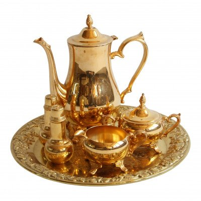 Gold Tea and Coffee Service Set picture 1