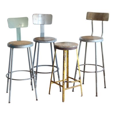 Wood-Metal Bar Stool - Assorted picture 1