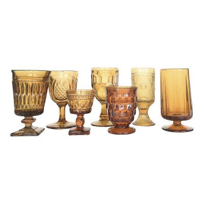 Topaz and Sedona Glass Drinkware picture 1