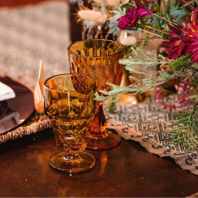 Topaz and Sedona Glass Drinkware picture 2