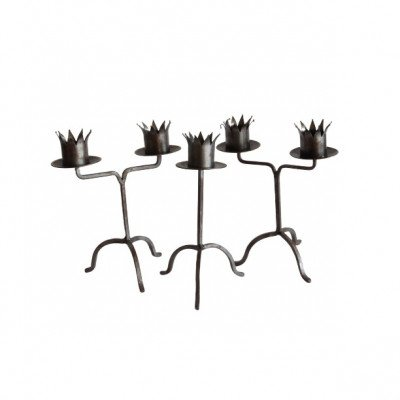 Set of 3 Jester Candlesticks picture 1