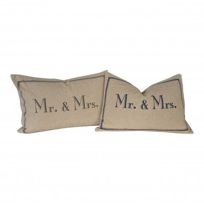 ''Mr.and Mrs.'' Pillow picture 1