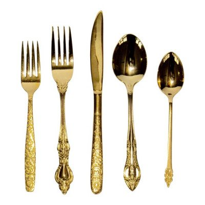 Gold Plated Flatware Teaspoon picture 1