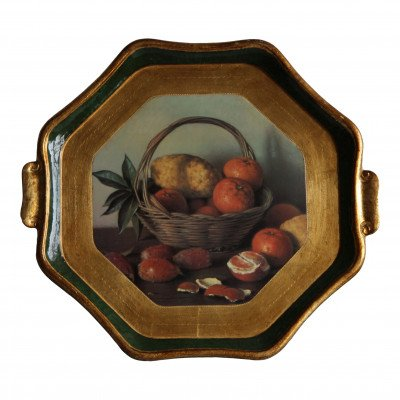 Tropical Fruit Basket Wood Tray picture 1