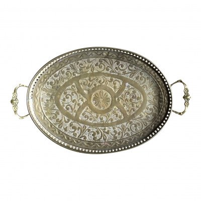Ozzy Brass Handled Tray picture 1