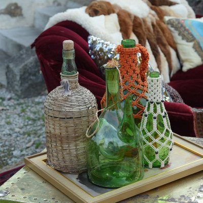 Set of 3 Wicker Jugs and Bottles picture 3