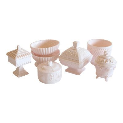 Pink Milk Glass Vessel - Assorted picture 1