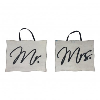 Pair of 'Mr.' & 'Mrs.' Chair Signs picture 1
