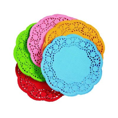 Set of 5 Colorful Doilies - Assorted picture 1