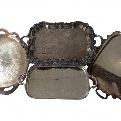 XL Silver Handled Tray picture 1