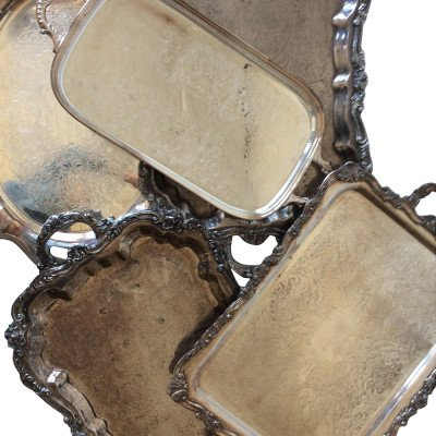 XL Silver Handled Tray picture 3