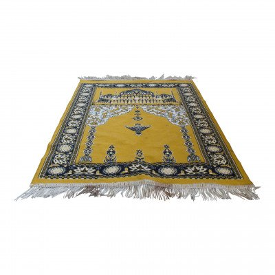 Golden Moroccan Rug - S picture 1