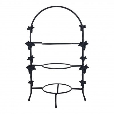 Black Leaf 3-Tiered Plate Server picture 1