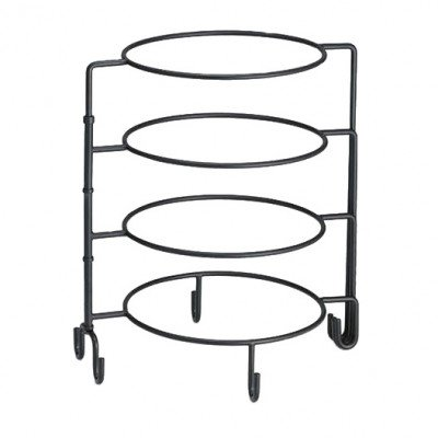 Black Spiral 4-Tiered Plate Stand picture 1