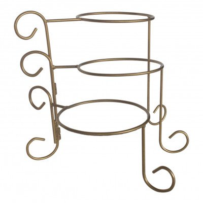Gold Spiral 3-Tiered Plate Stand picture 1