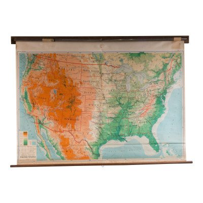 Vintage Pull Down Map picture 1