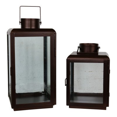 L Bronze Candle Lantern picture 1
