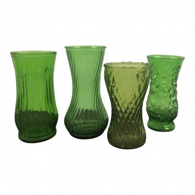 L Green Glass Vase picture 1