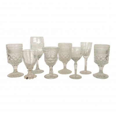 Clear Day Glass Toasting Goblet - Assorted picture 1
