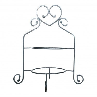 Silver Heart 2-Tiered Plate Server picture 1