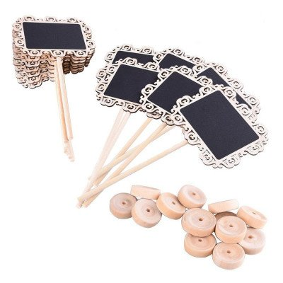 mini chalkboard table number stands picture 2