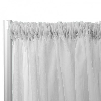 16'L Sheer Voile Drape Panel - Grey picture 1