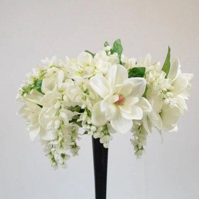 Flower Arrang. for Eiffel Tower-Ivory Wisteria picture 1