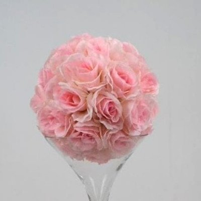 """Rose Ball on martini Vase 16"""" - Pink picture 1"""