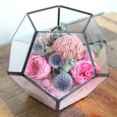Terrarium with floral - Lilac picture 1