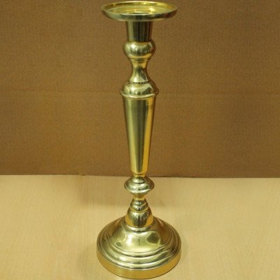 """Brass Candle Stand - 15.5""""H picture 1"""