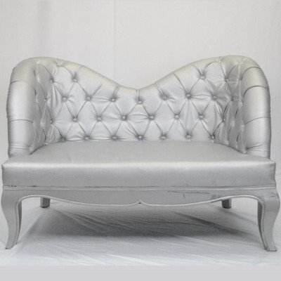 Silver Loveseat picture 1