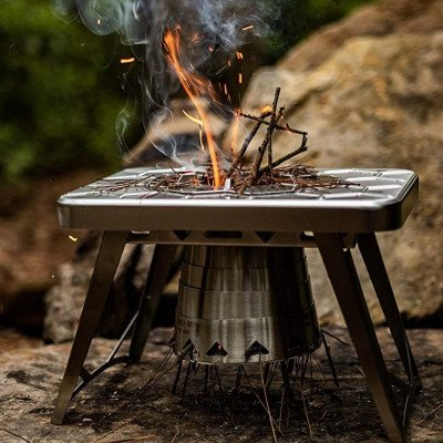 compact wood burning camping stove picture 1