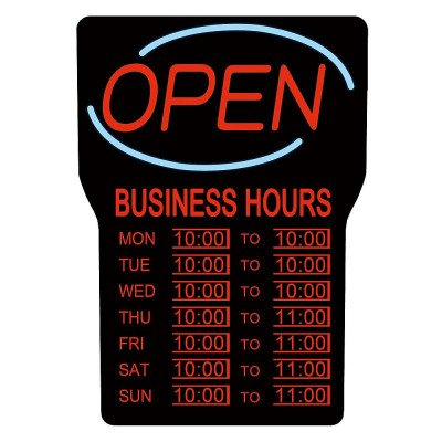 Open Sign with Business Hours picture 1