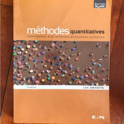 Méthodes quantitatives textbook picture 1