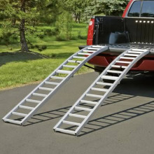 85-in folding arched aluminum loading ramps (2)