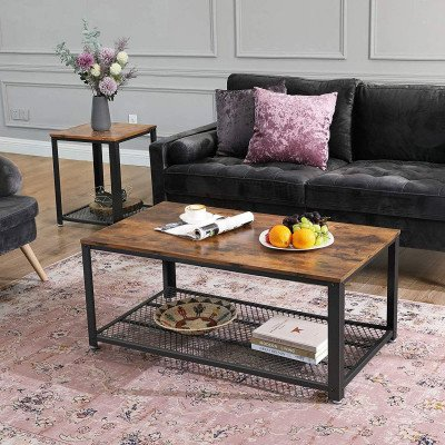 coffee table with storage shelf picture 1