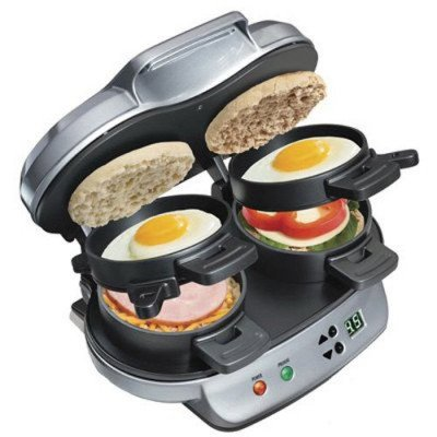 dual breakfast sandwich maker picture 2