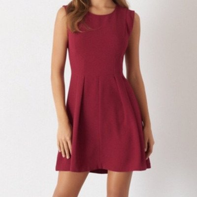 red cocktail party dress-5