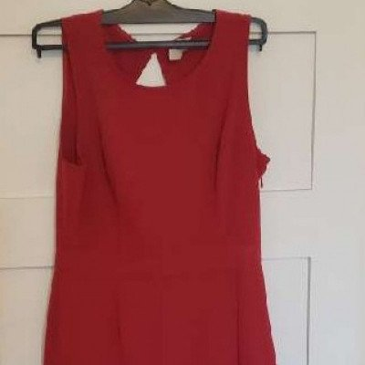 red cocktail party dress-3
