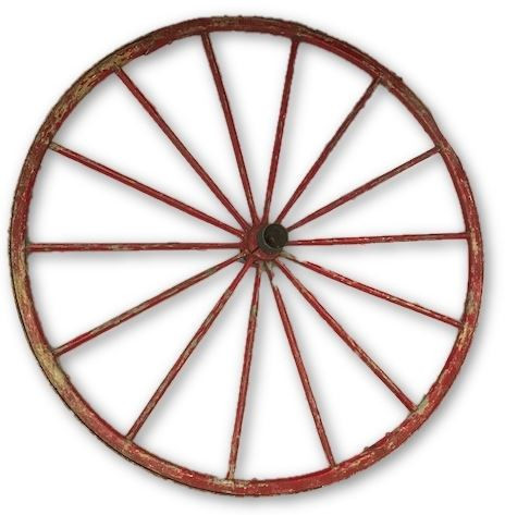 Rustic Red Wagon Wheel