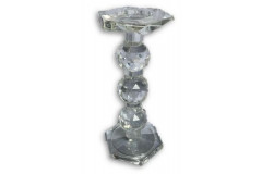 "Crystal 12"" Candle Holder"