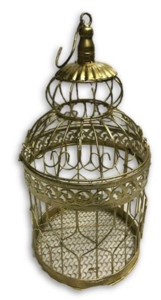Wired Gold Bird Cage
