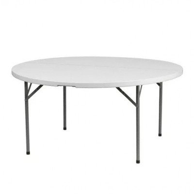 60 inch plastic round table in grey-1